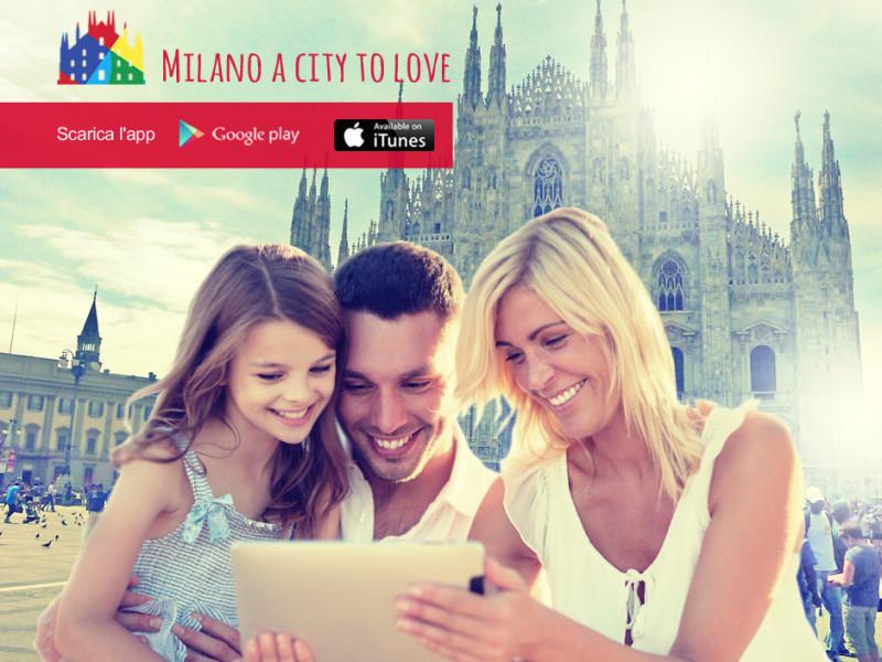 facebook creatività milano a city to love grafica promozione mobile