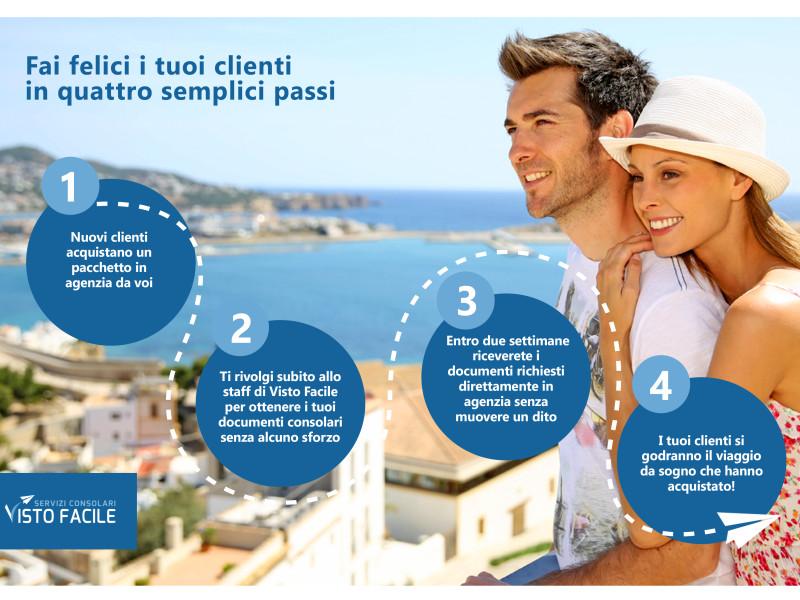 grafica brochure agenzie viaggio visto facile