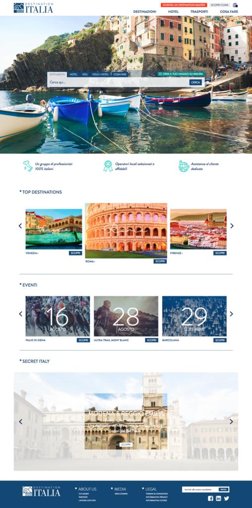 contenuti turistici sito destination italia