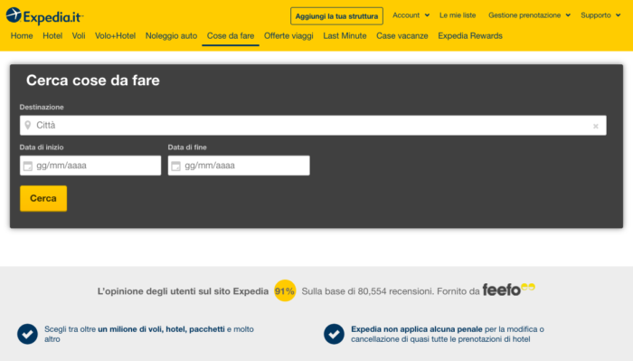 expedia local expert cosa fare