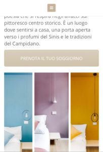 sito web hotel affittacamere