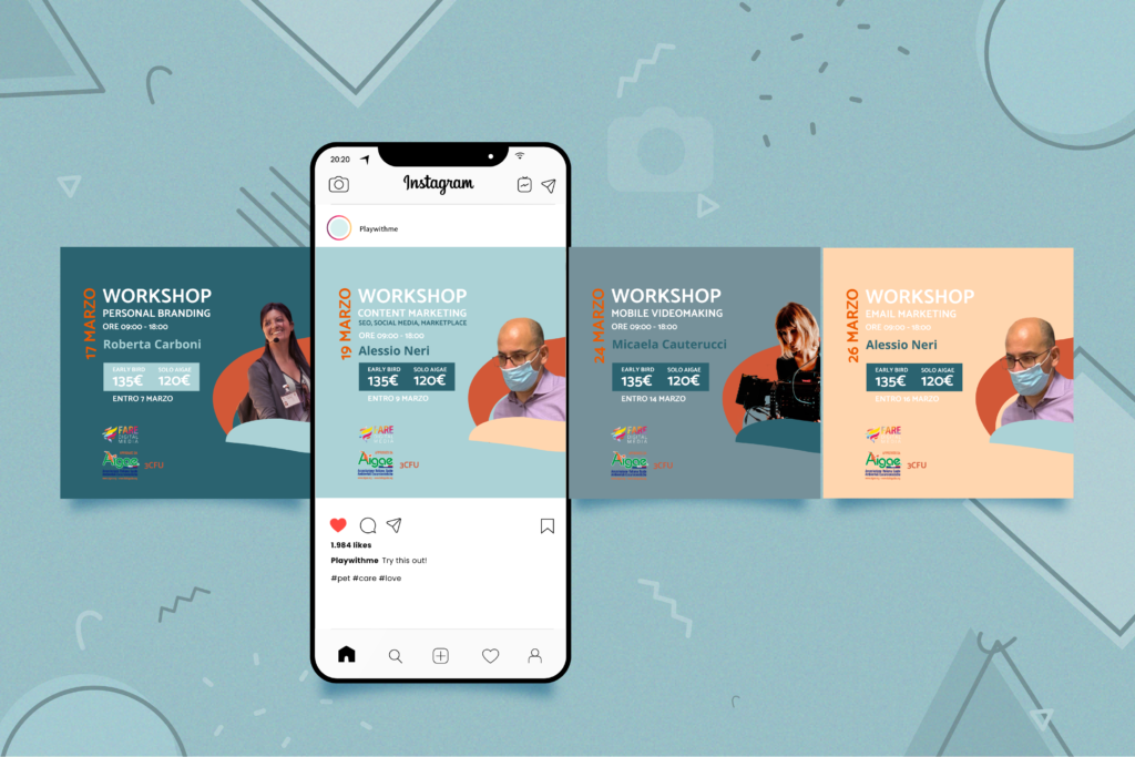 mockup carosello post instagram